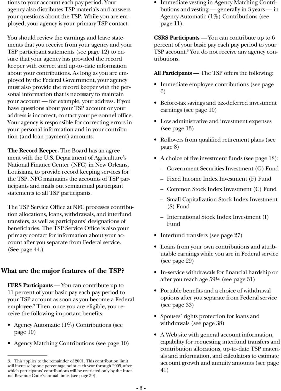 Summary of the Thrift Savings Plan for Federal Employees - PDF