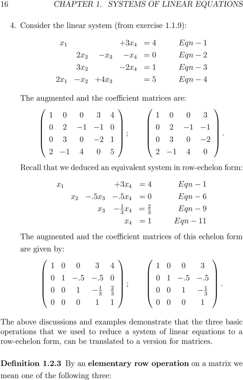 systems of linear equations - pdf
