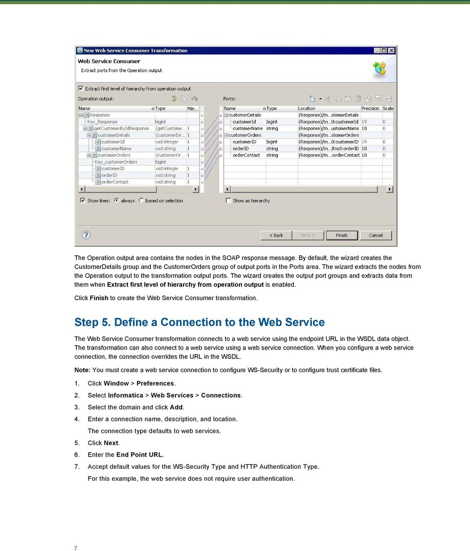 Calling a Web Service from a Web Service Consumer Transformation in