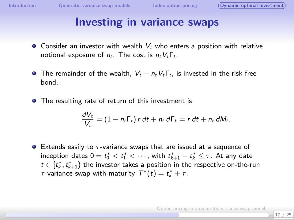 Option pricing in a quadratic variance swap model - PDF