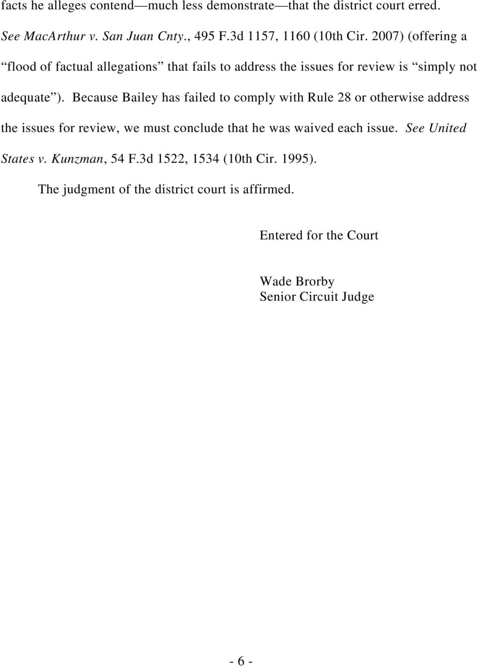 10th Circuit Rules That District Courts >> United States Court Of Appeals For The Tenth Circuit Order And