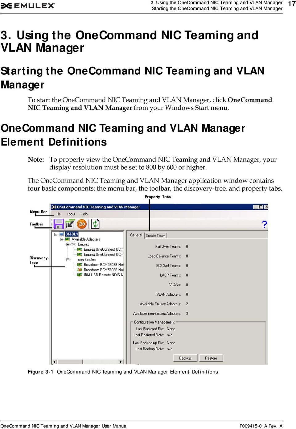 OneCommand NIC Teaming and VLAN Manager Version 2 8 User Manual - PDF