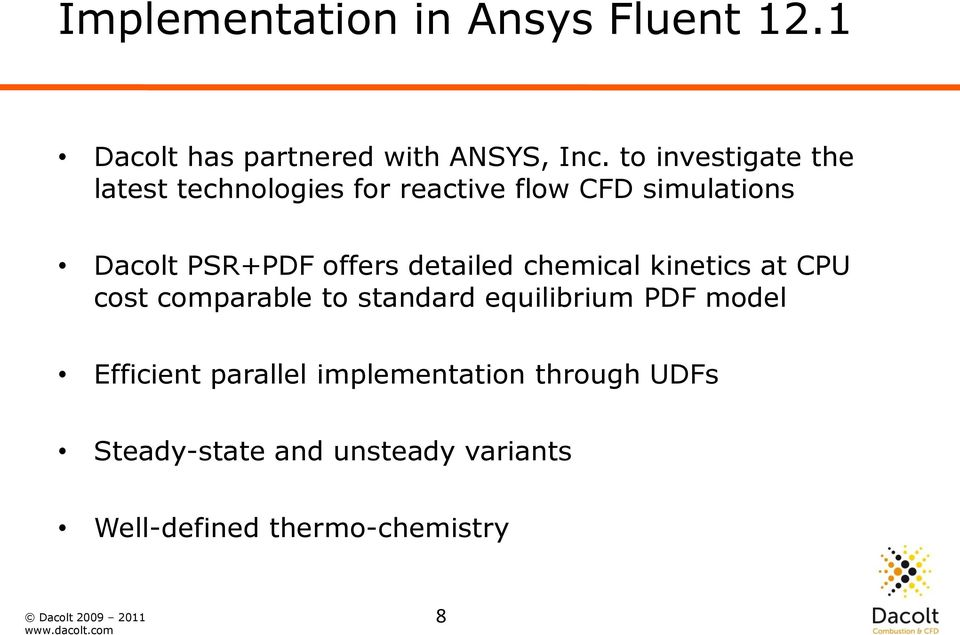 Advanced combustion modelling with ANSYS FLUENT and Tabkin - PDF