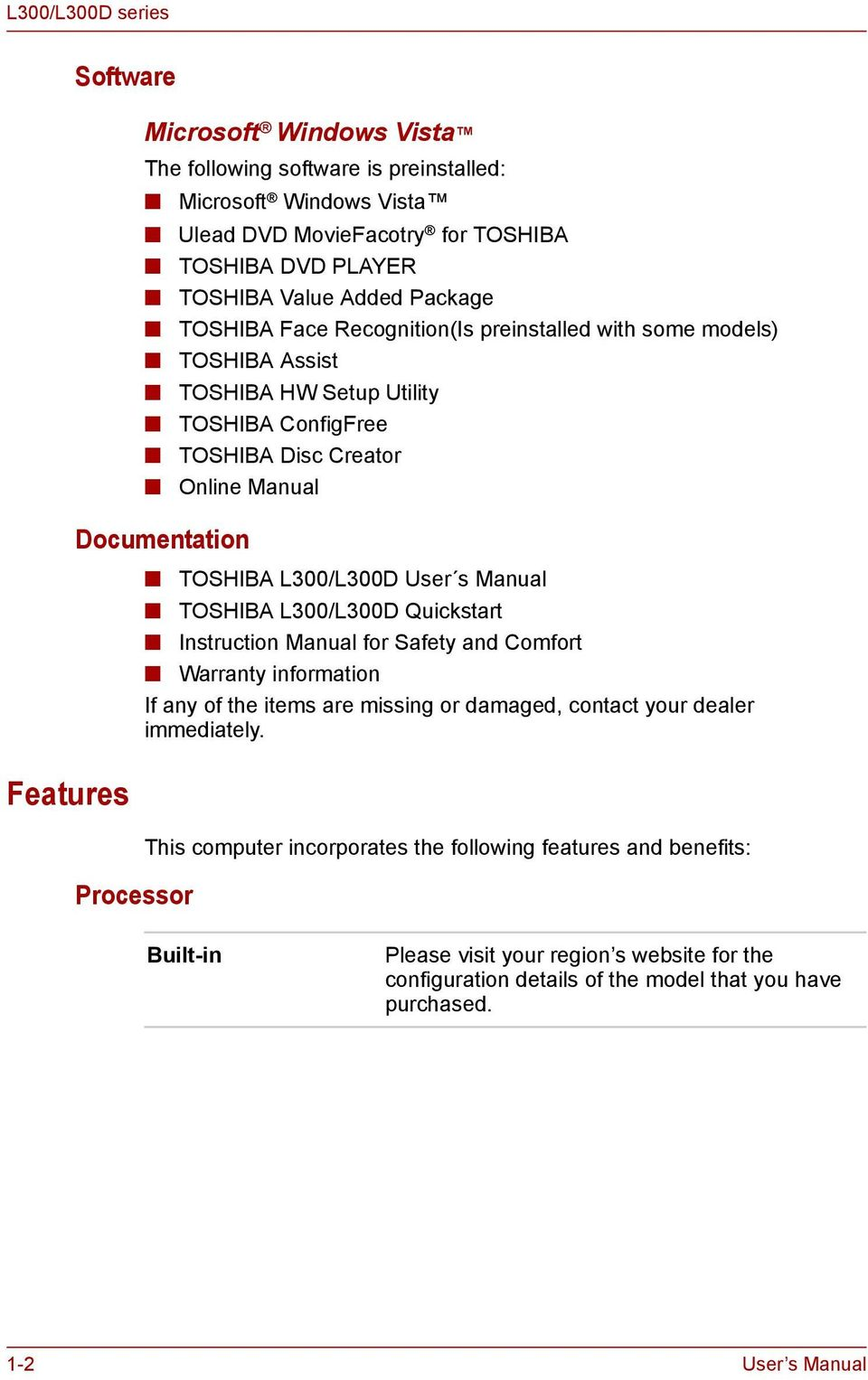 User s Manual  L300/L300D series  computers toshiba-europe