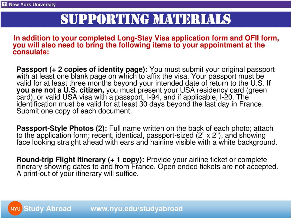 GETTING YOUR VISA FOR FRANCE - PDF