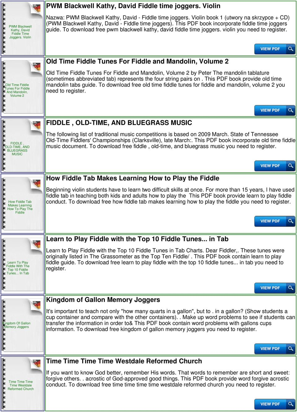 Fiddle Time Joggers Download or Read Online ebook fiddle time