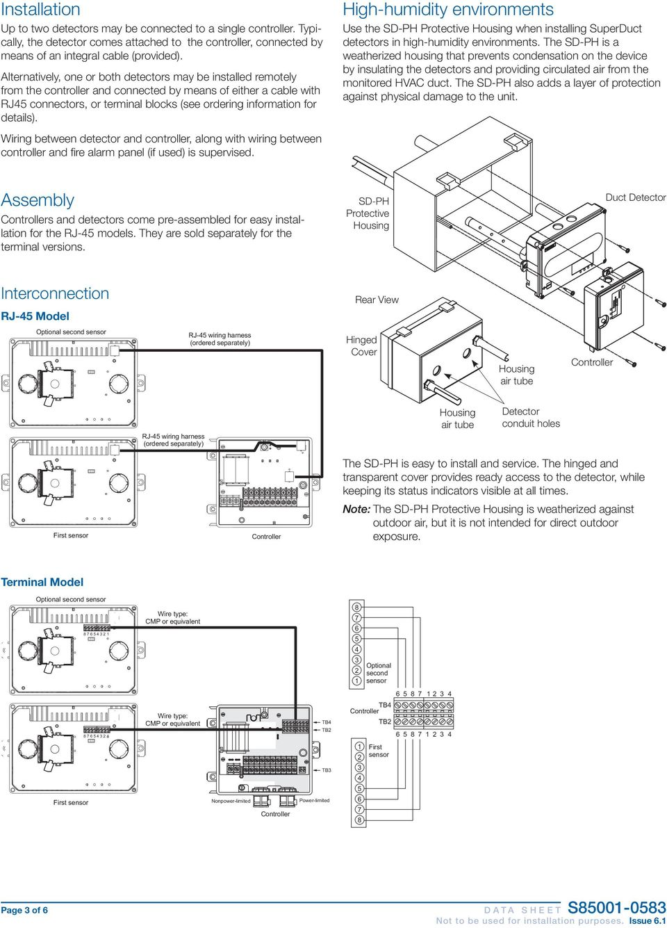 Four Wire Duct Smoke Detector Pdf Circuit Diagram Humidity Transmitter Electrical Schematic Sensor Page Of D A T S H E Details Wiring Between And Controller Along With Fire