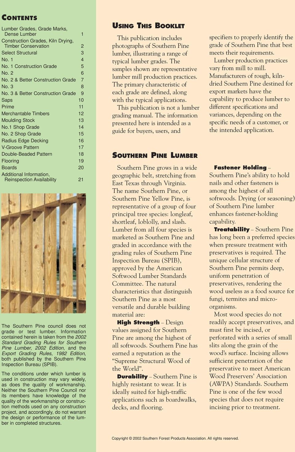 A Guide To Southern Pine Lumber Export Grades Pdf