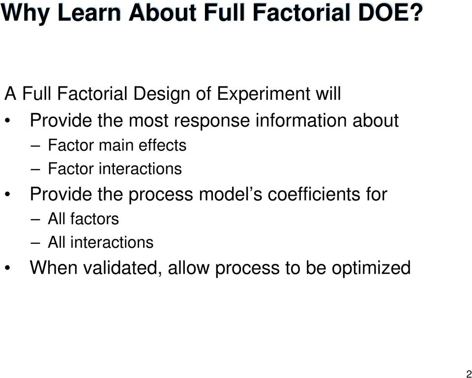 Full Factorial Design of Experiments - PDF
