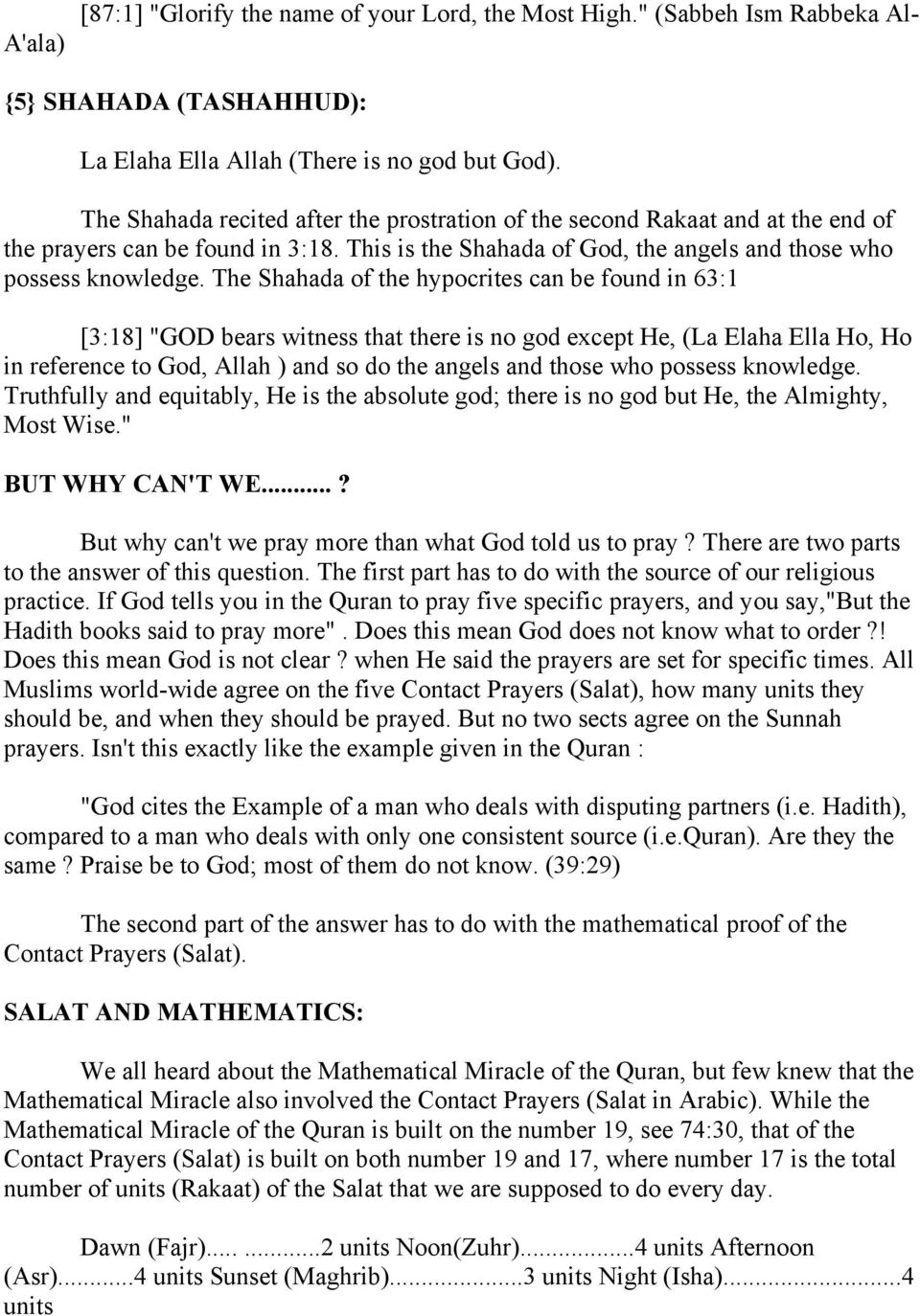 Where can we find Salat in the Quran?! - PDF