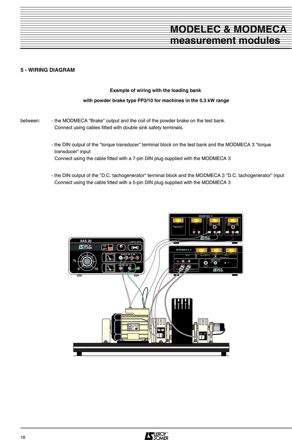 Modmeca Modelec Modules For Measuring Electrical And Mechanical Ac Wire Diagram Bank 96 5 Wrng Dagram Example Of Wiring With The Loading