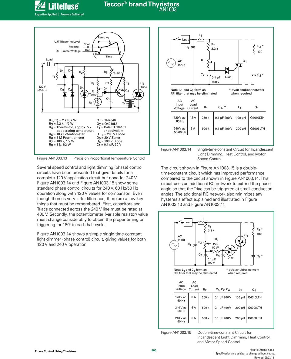 Phase Control Using Thyristors Pdf Scr Trigger Circuit And Protection Network 5 K At Operating Temperature R5 1 Potentiometer R6 M R7