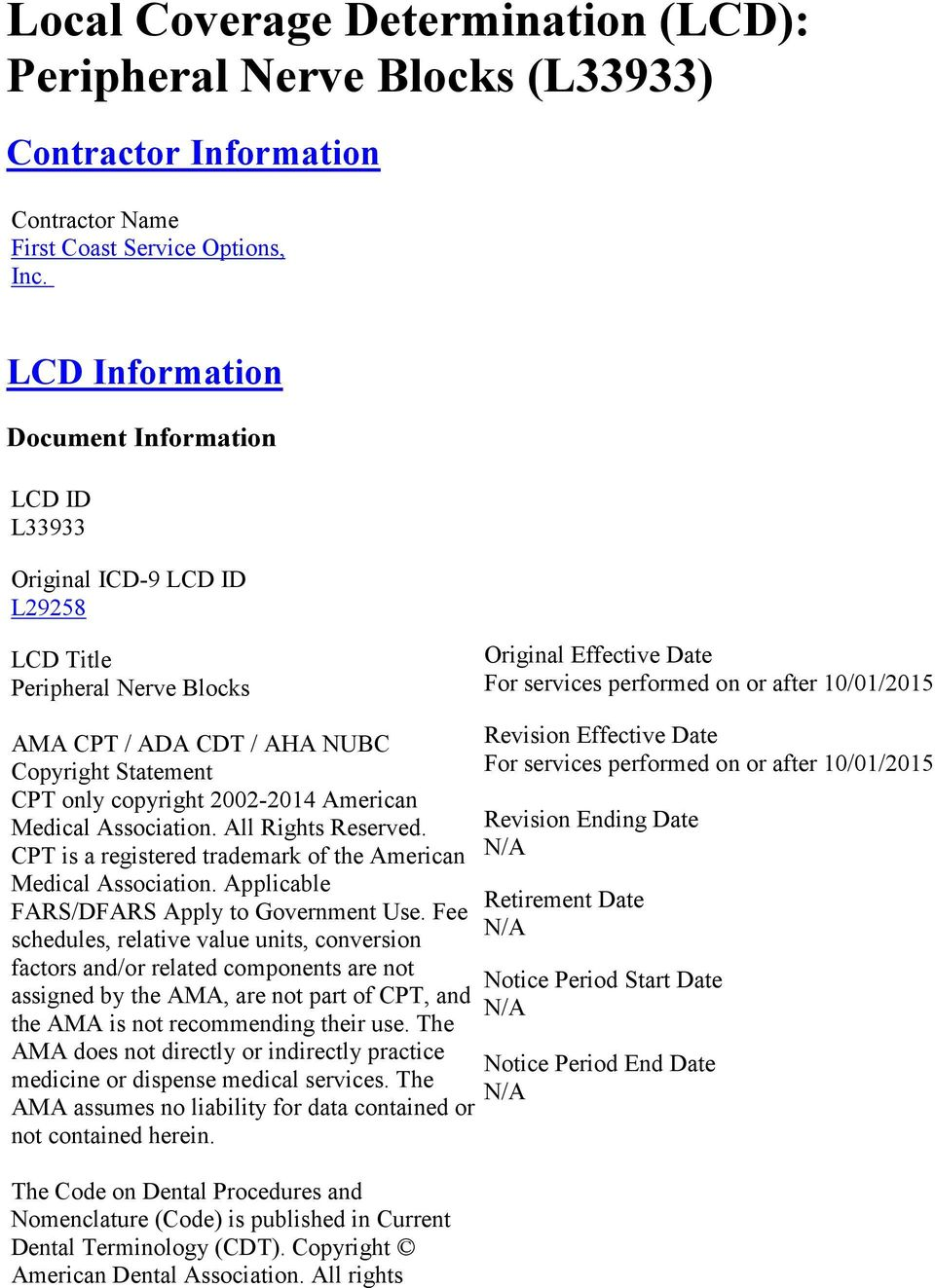local coverage determination lcd peripheral nerve blocks l33933 rh docplayer net
