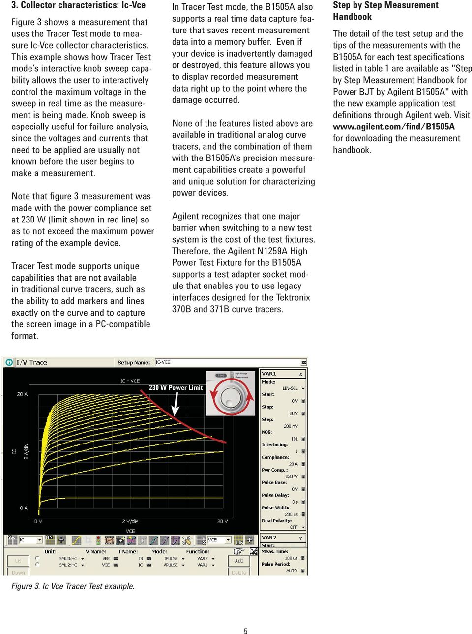 Measuring Power BJT Electrical Characteristics using the