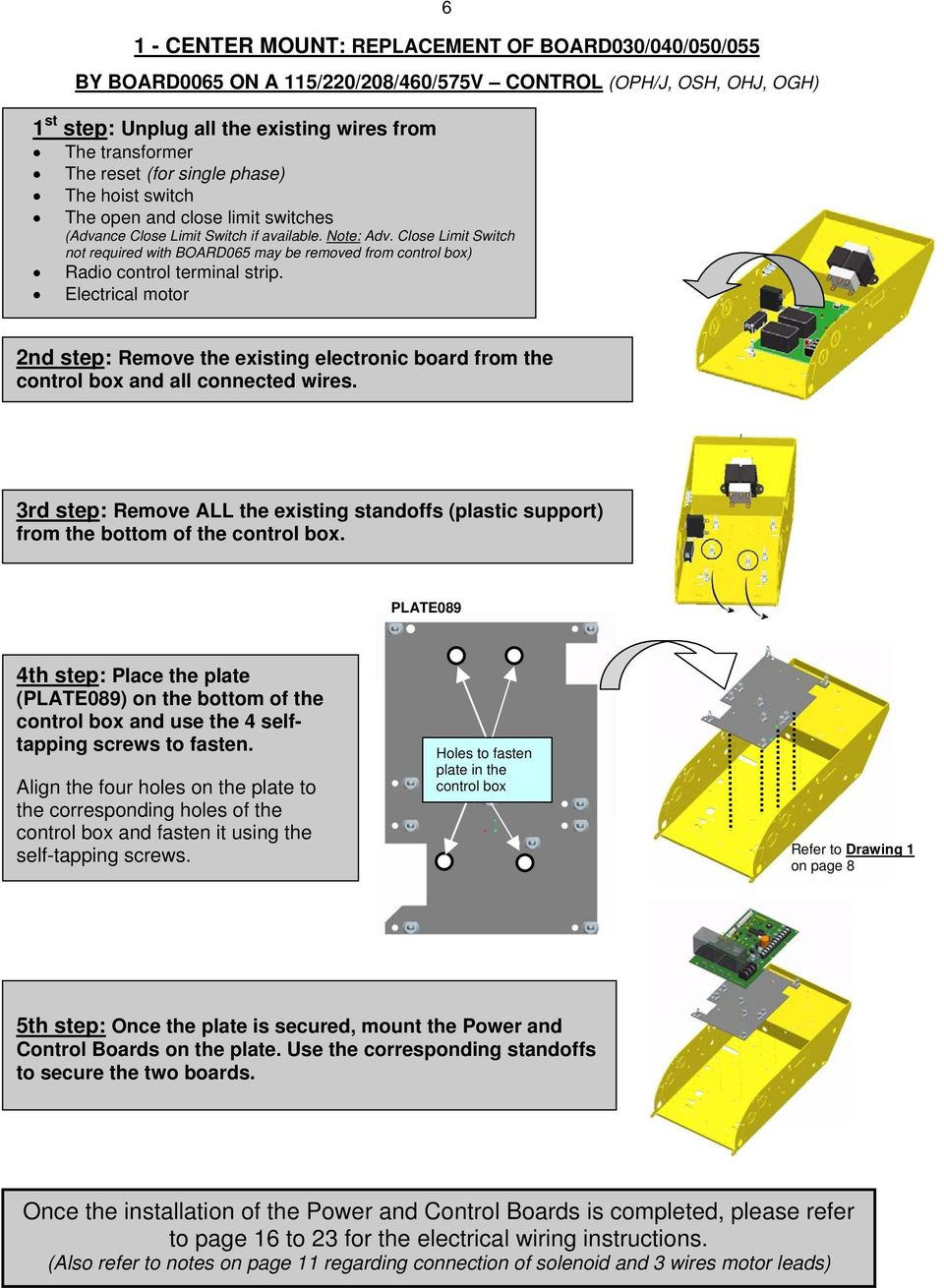 Model Date Wiring Diagram Door No Pdf Electric Latch Retraction Close Limit Switch Not Required With Board065 May Be Removed From Control Box Radio
