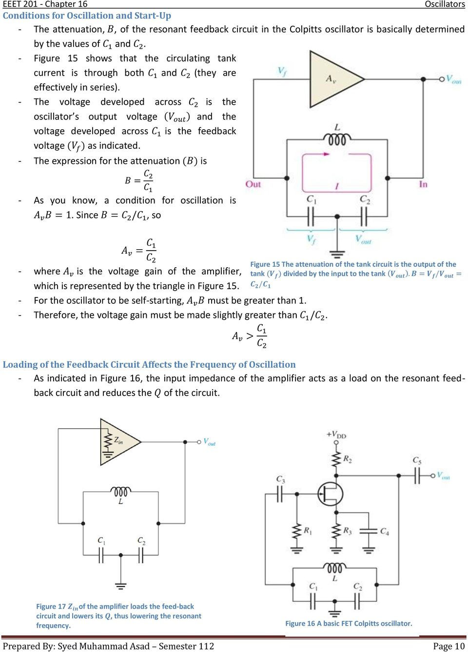 Chapter 16 Oscillators Pdf Oscillator Circuit Diagram Composed Of Crystal Inverter The Voltage Developed Across Is S Output And