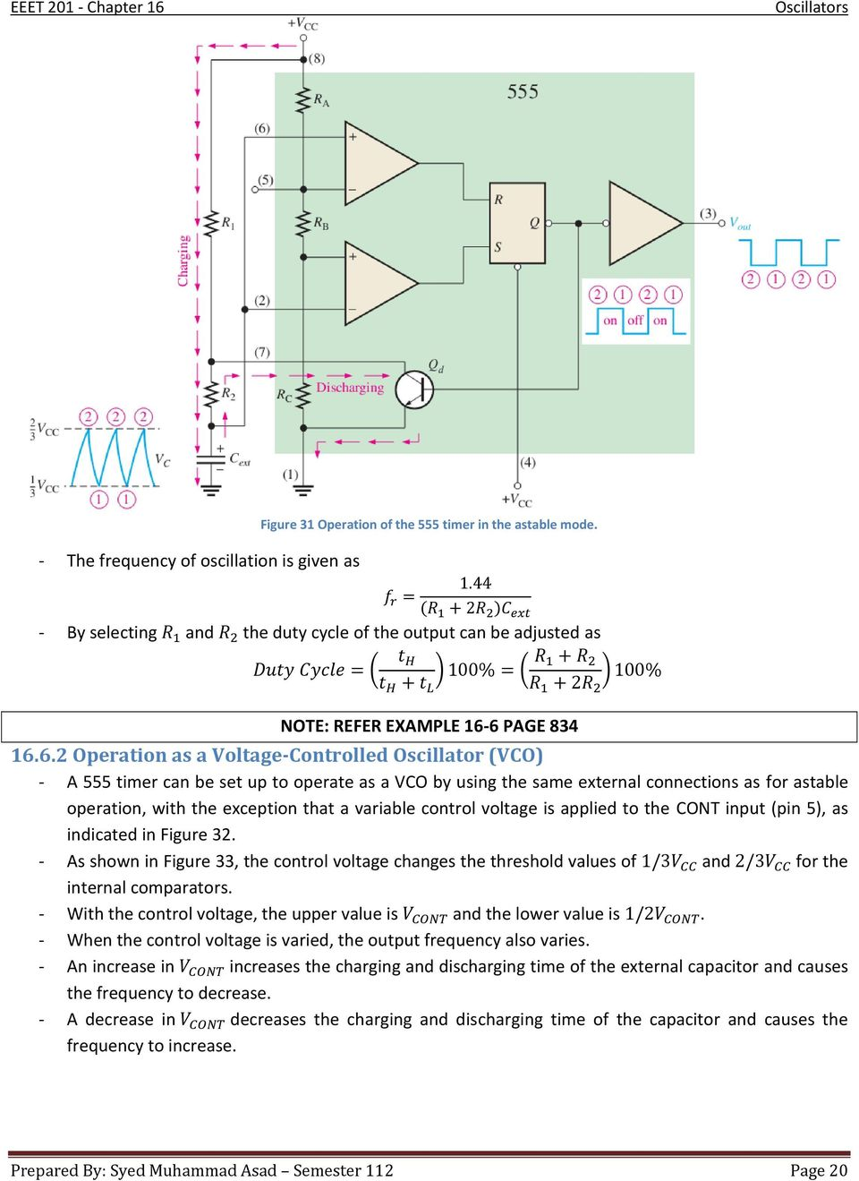 Chapter 16 Oscillators Pdf Bistabe Multivibrator Using 555 Timer Working Animation 6 Page 834 1662 Operation As A Voltage Controlled Oscillator Vco