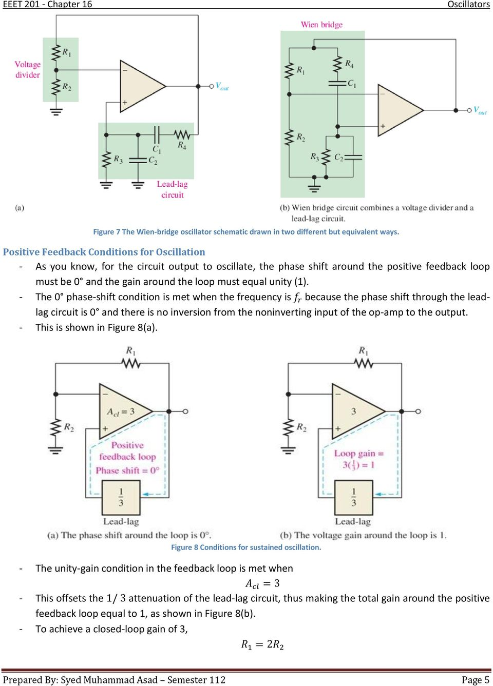 Chapter 16 Oscillators Pdf Power Opamp Bridge Amplifier With Differential Output Circuit Unity 1