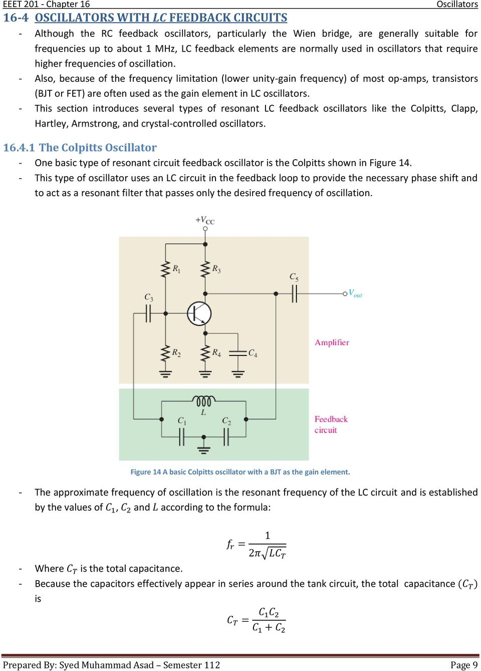 Chapter 16 Oscillators Pdf Circuit Is Similar To The Transistor Version Of Hartley Oscillator Also Because Frequency Limitation Lower Unity Gain