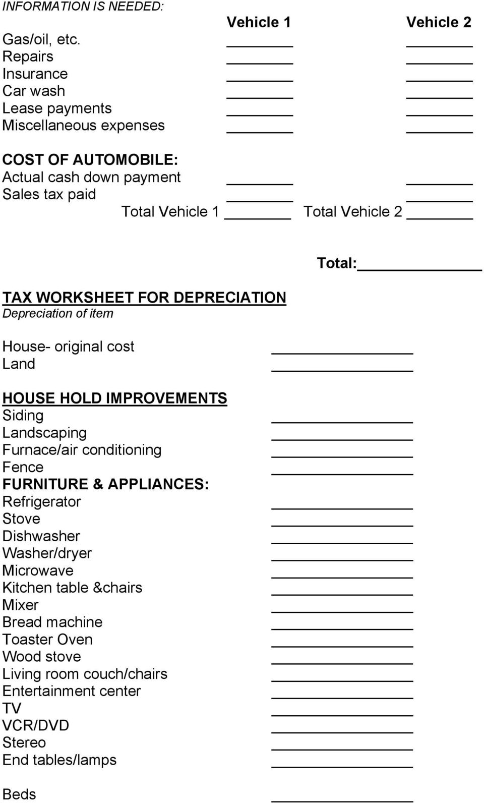 Child care business form for taxes pdf vehicle 2 tax worksheet for depreciation depreciation of item total house original cost land ibookread ePUb