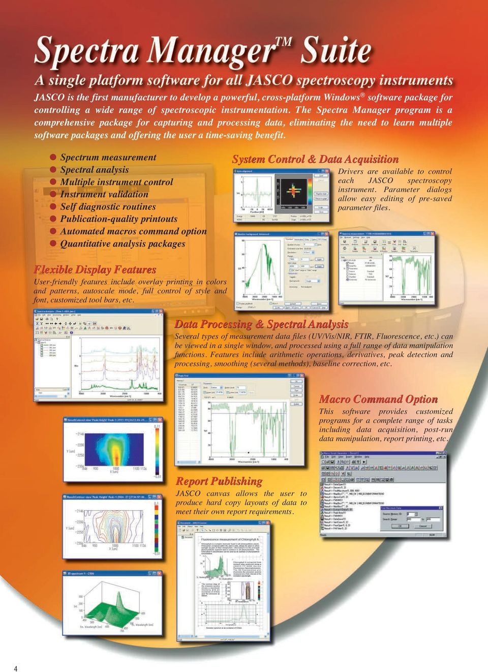 Spectra Manager Software Suite FT-IR Spectrometers IR Imaging System