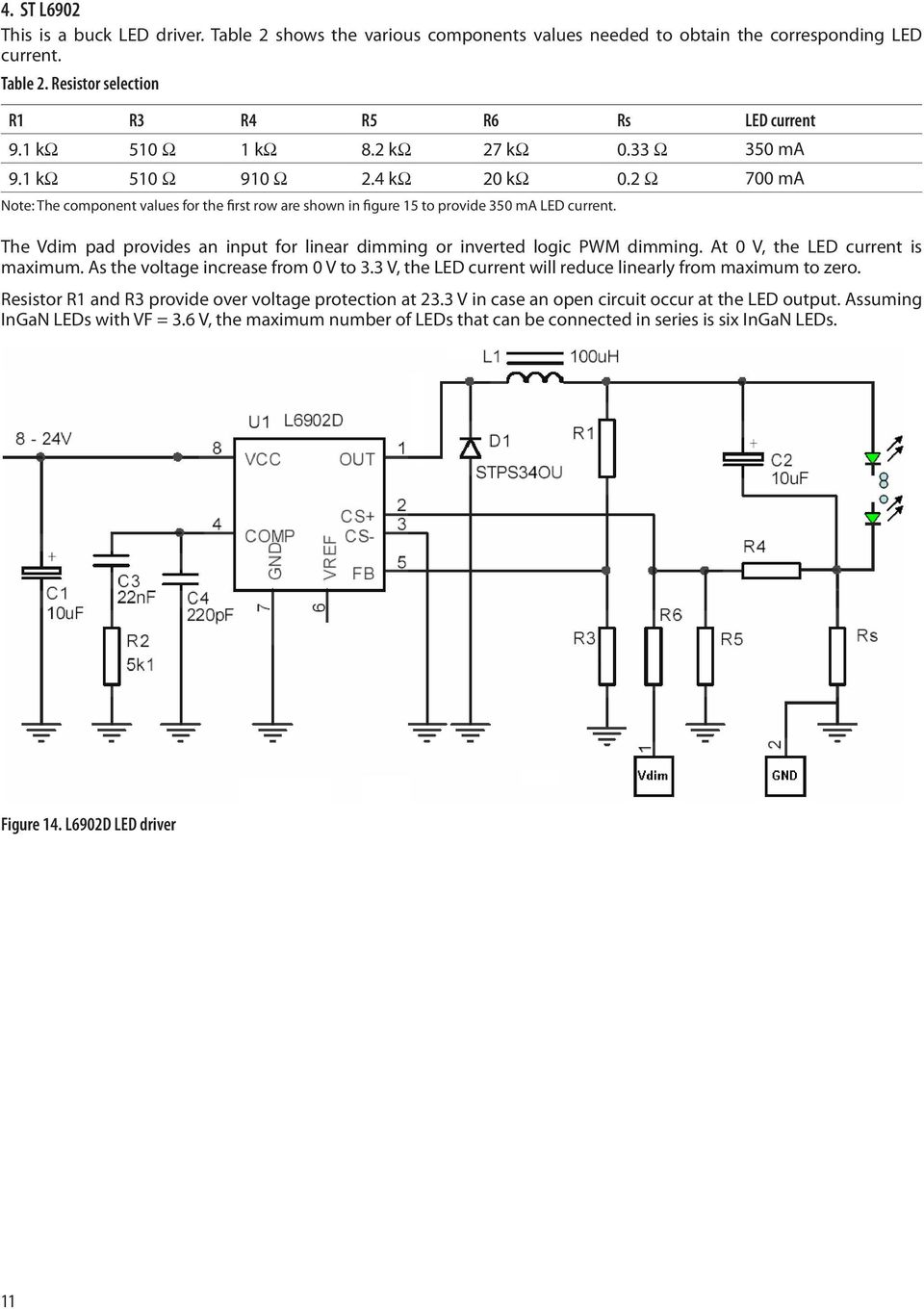 Application Note Pdf Technique Of Paralleling Led Strings With Current Balancing Schematic The Vdim Pad Provides An Input For Linear Dimming Or Inverted Logic Pwm At