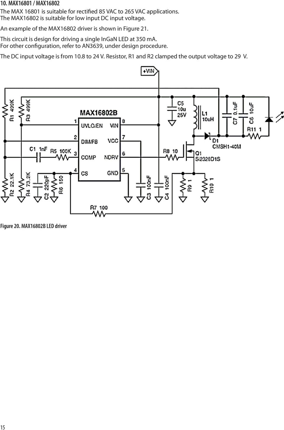 Application Note Pdf 3a Switching Voltage Regulator Based Lm317hv This Circuit Is Design For Driving A Single Ingan Led At 350 Ma