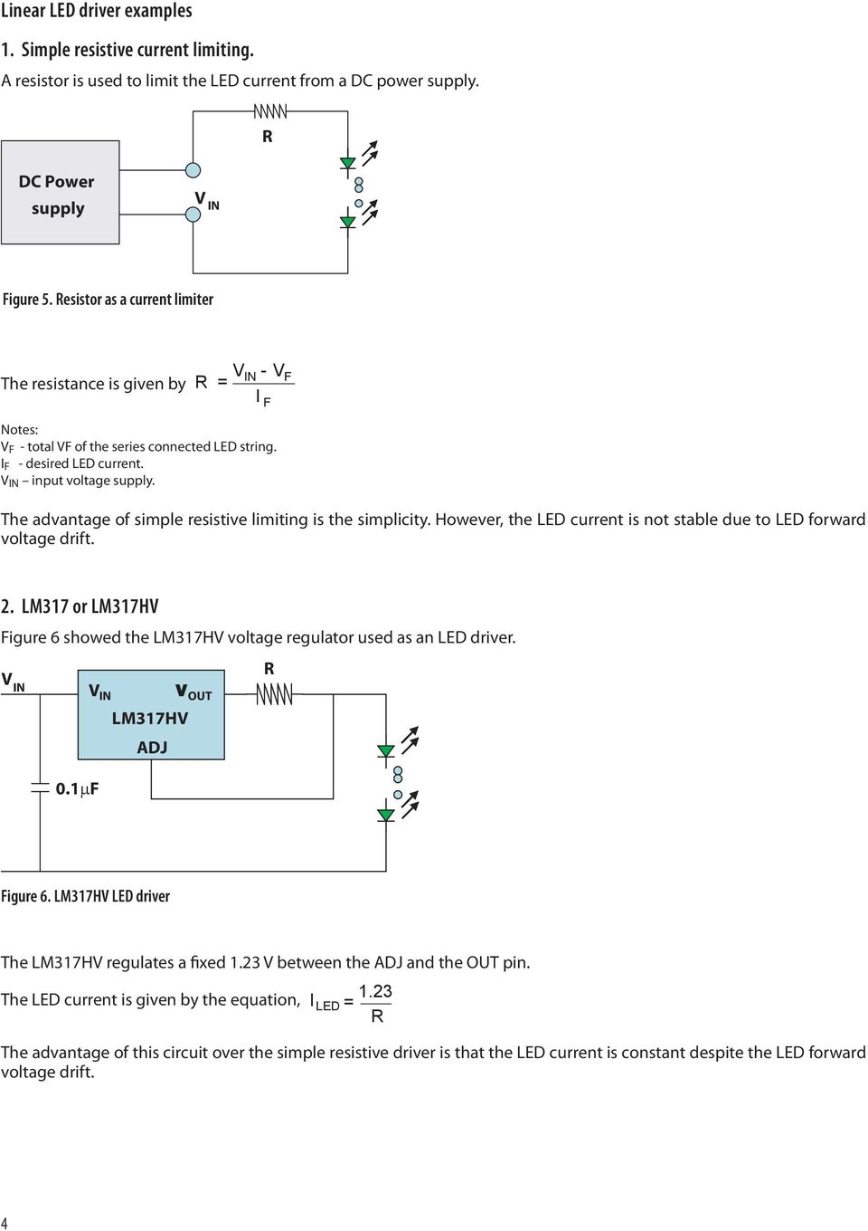 Application Note Pdf Boost Led Driver For Hb Leds F The Advantage Of Simple Resistive Limiting Is Simplicity However Current