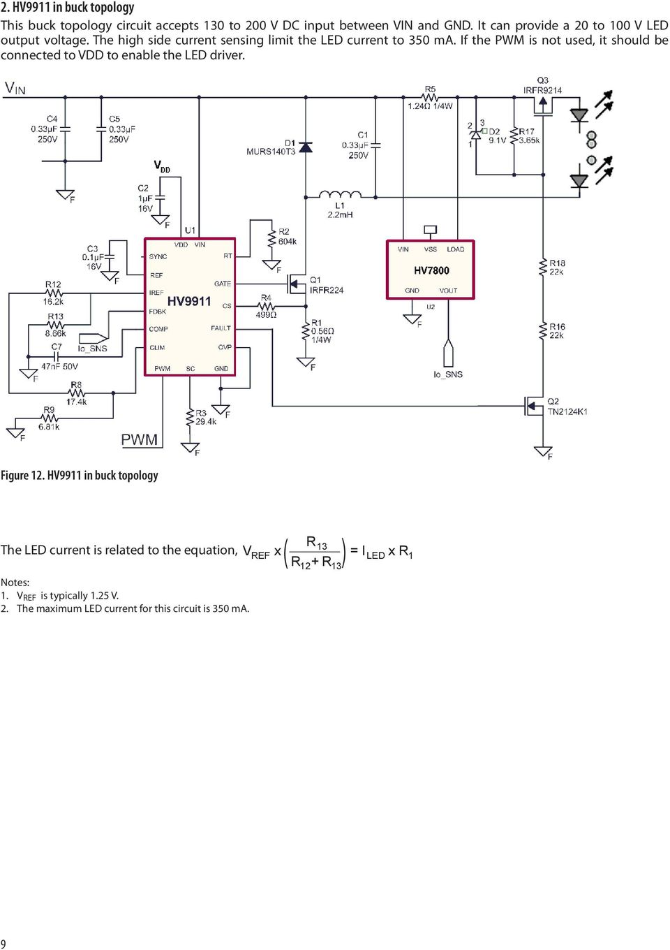 Application Note Pdf Low Drop Linear Led Driver If The Pwm Is Not Used It Should Be Connected To Vdd Enable