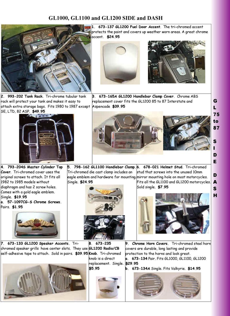 G L 75 To 87 F R O N T Pdf 1982 Honda Goldwing Gl1200 Aspencade Wiring Diagram Usa Chrome B Replement Over Fits The 1200 85 Interstte Nd Spende 3995 4 793