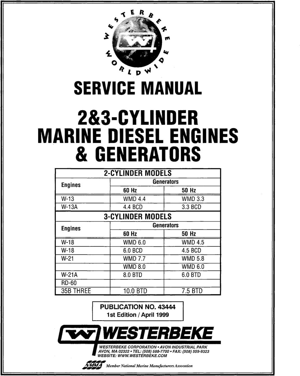 2&3 CYLINDER MARINE SEL ENGINES & GENERATORS - PDF on