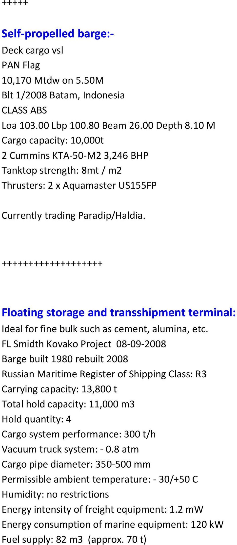 CARGO BARGES FOR SALE - PDF
