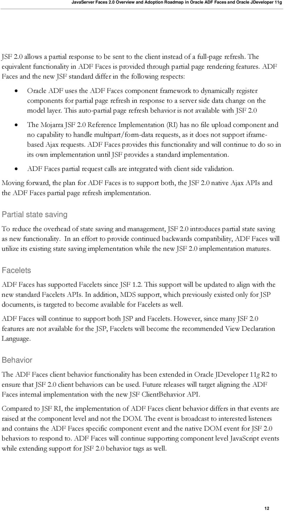 JavaServer Faces 2 0 Overview and Adoption Roadmap in Oracle ADF