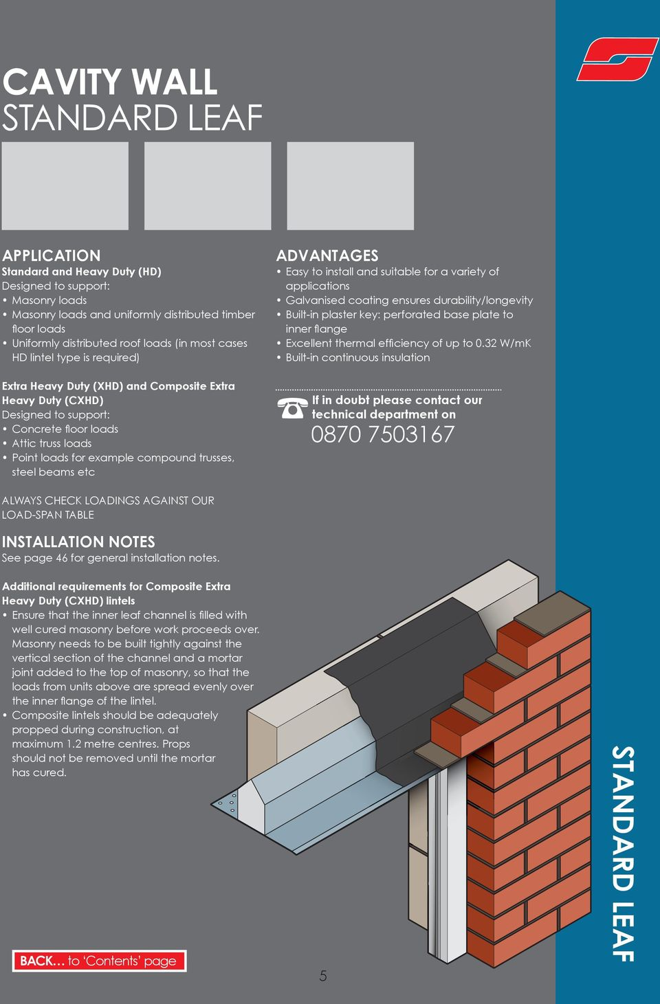 LINTEL GUIDE Click here to go straight to the contents  - PDF