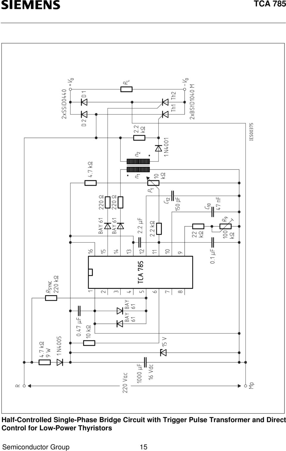 Phase Control Ic Tca Pdf Sawtooth Wave Generator Circuit Using Ujt Transformer And Direct For