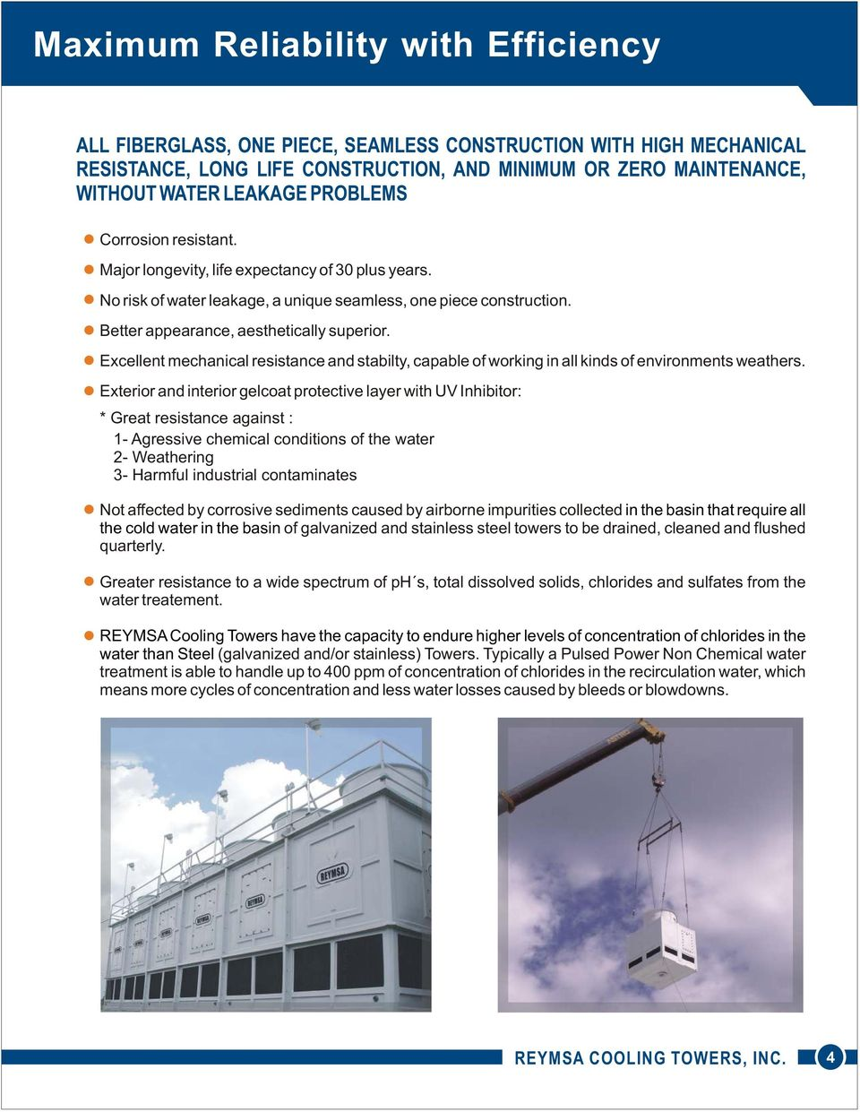 Durable Corrosion Resistant Cooling Towers THERMAL PERFORMANCE