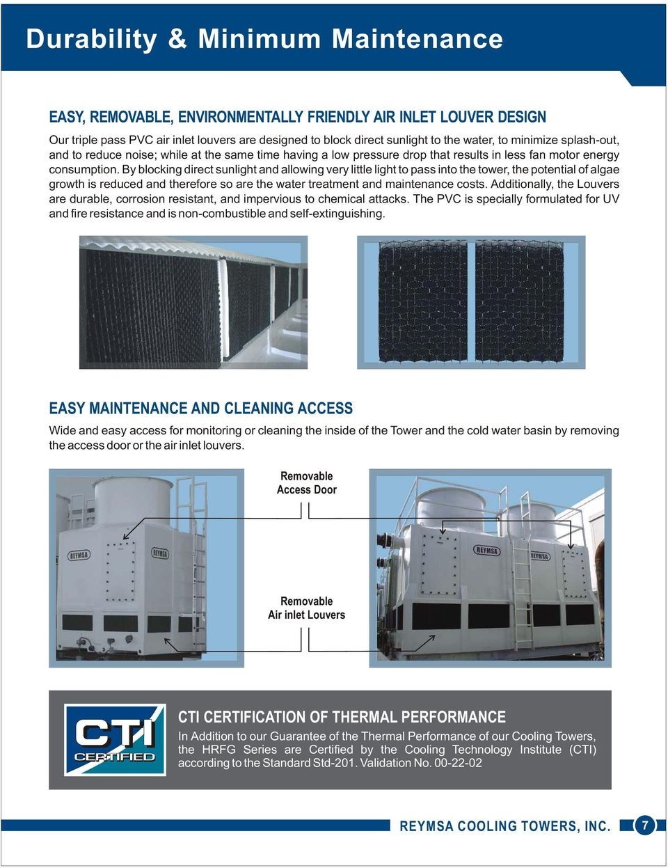Durable Corrosion Resistant Cooling Towers THERMAL