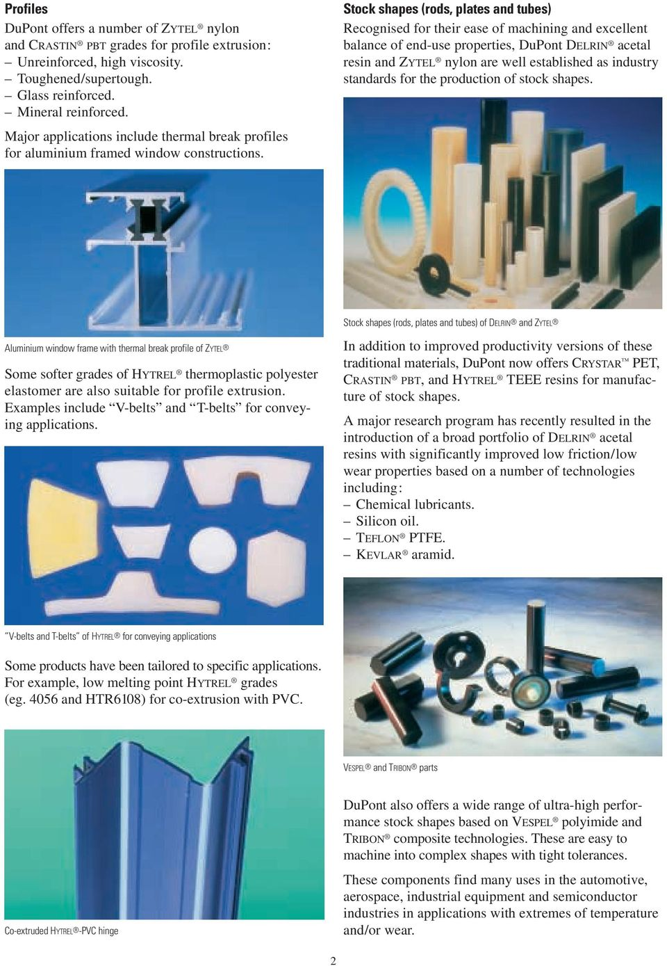 DuPont  Engineering Polymers  Extrusion Applications  DuPont