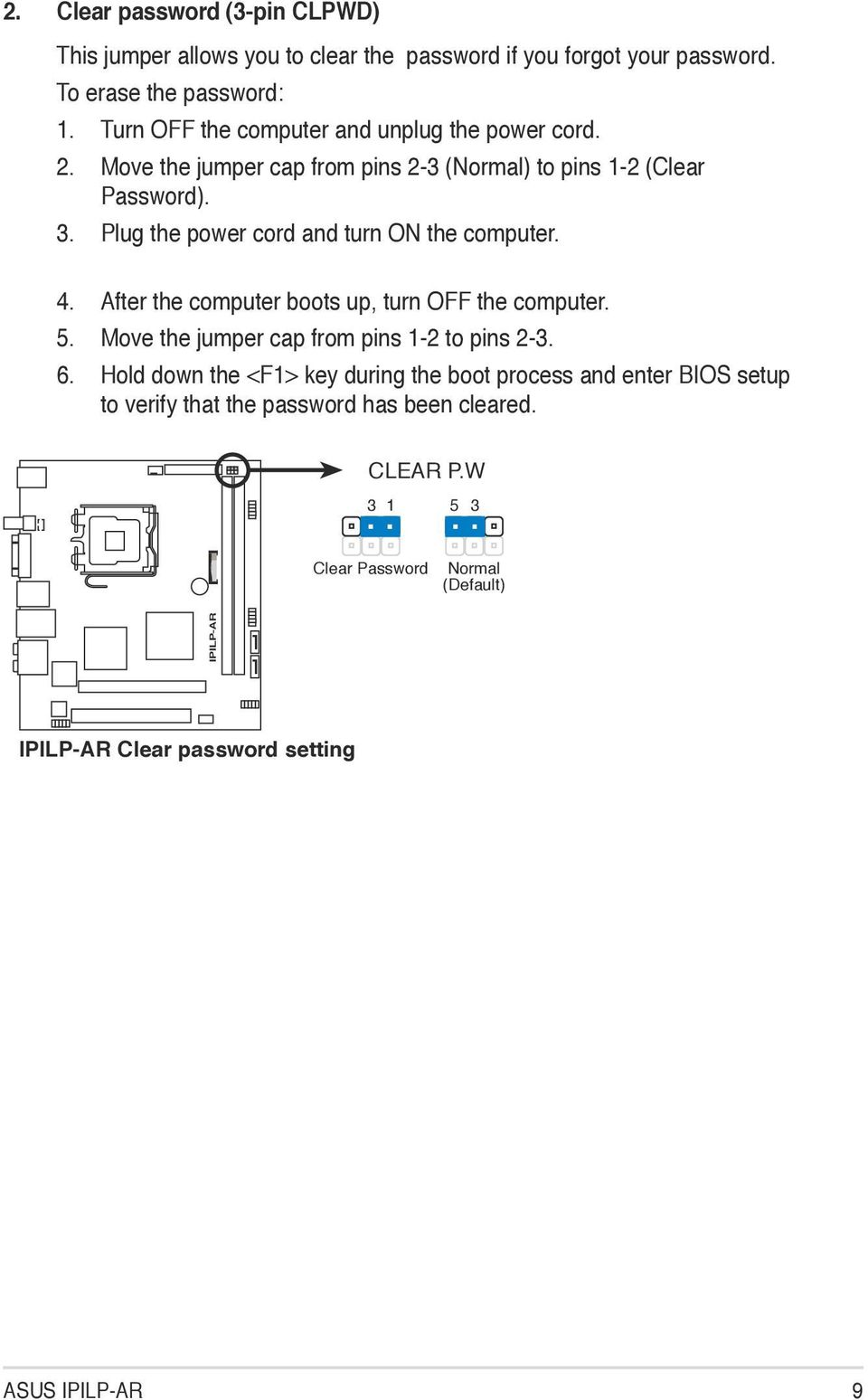 Ipilp Ar Motherboard Pdf Diagram Of How All The Components Are Placed On Asus Cubx Plug Power Cord And Turn Computer 4 After Boots