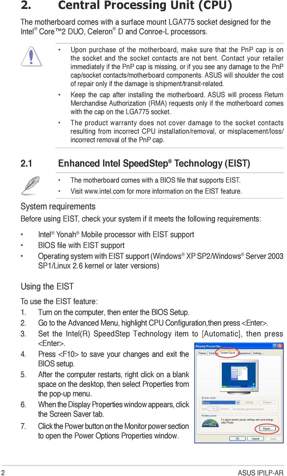 Ipilp Ar Motherboard Pdf Diagram Of How All The Components Are Placed On Asus Cubx Contact Your Retailer Immediately If Pnp Cap Is Missing Or You See Any