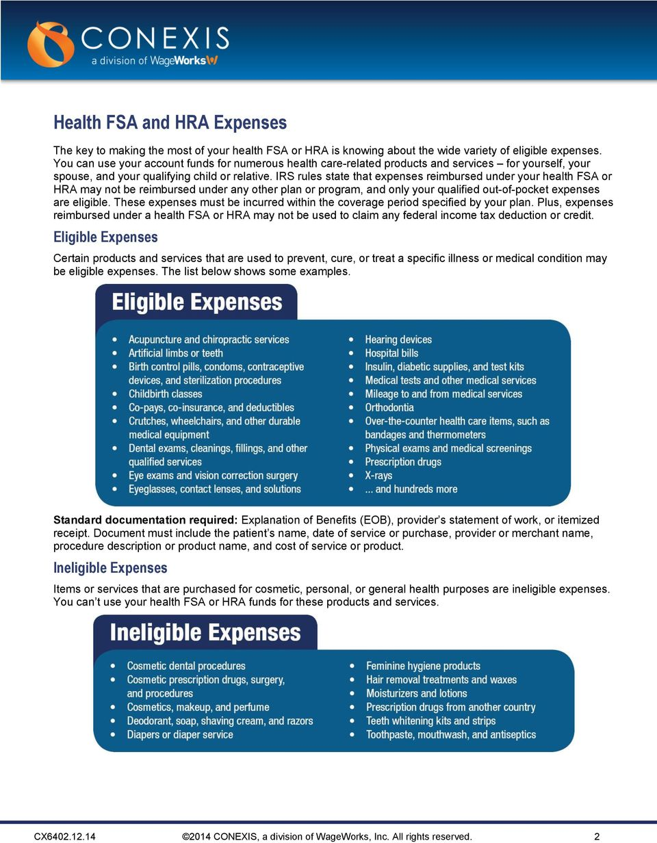 Irs Rules State That Expenses Reimbursed Under Your Health Or May Not Be Reimbursed Under Any