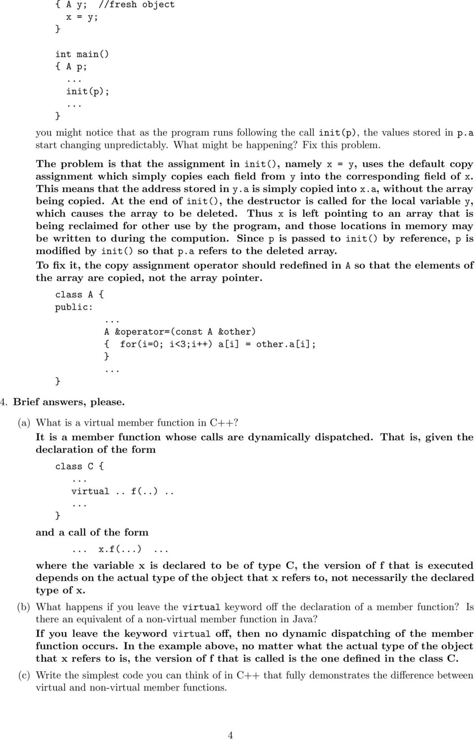 Object Oriented Programming V Fall Final Exam SOLUTION - PDF