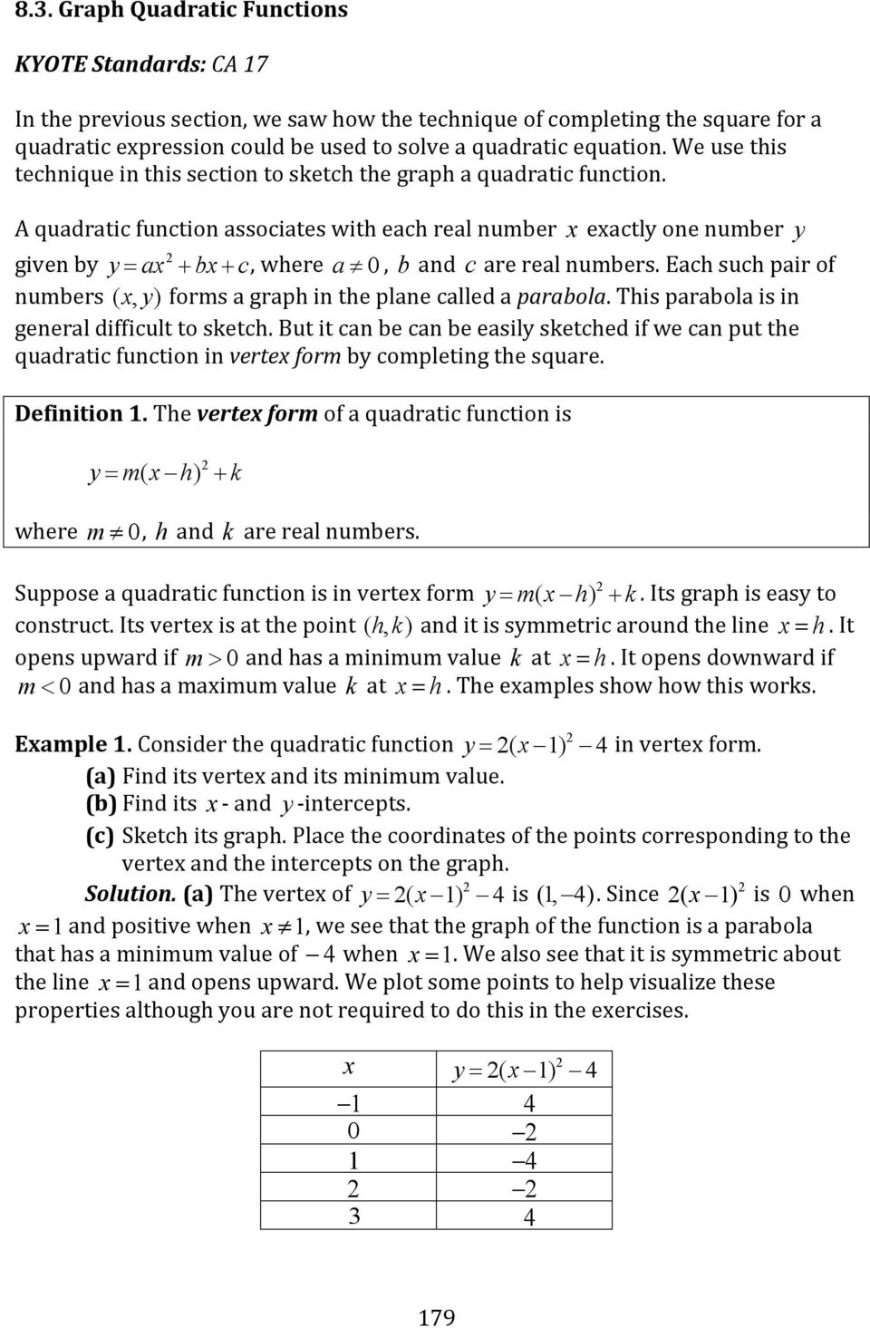 Chapter 8 Quadratic Equations And Functions Pdf