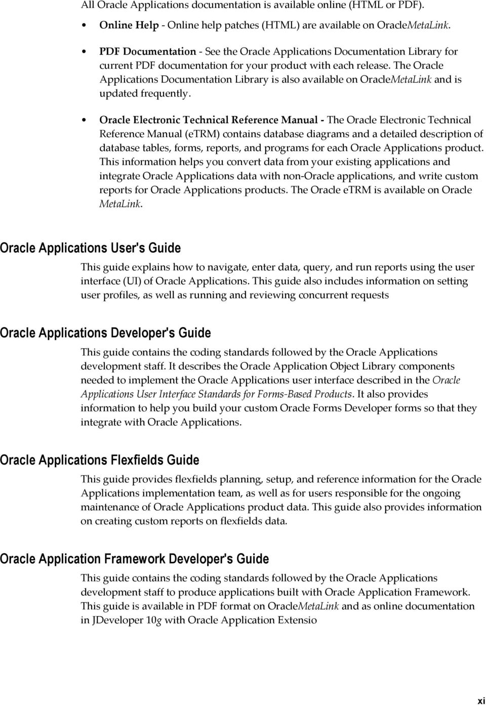 Oracle XML Publisher  Administration and Developer's Guide Release
