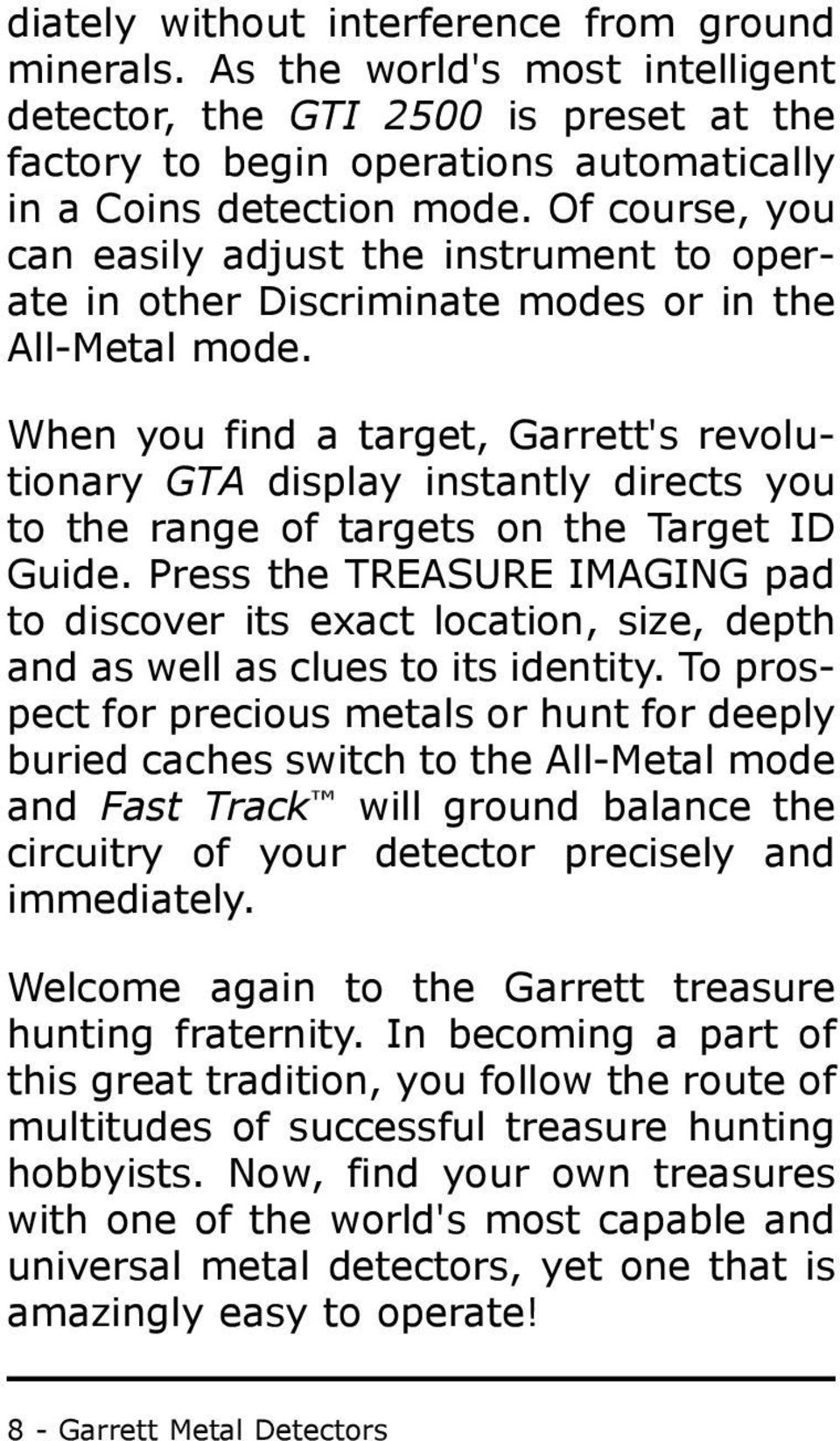 Special Notice Graphic Target Imaging Pdf Metal Detector Schematicmetal Schematic Pdfmetal Pinpointer 8 Garrett Detectors When You Find A Garretts Revolutionary Gta Display Instantly Directs To The Range
