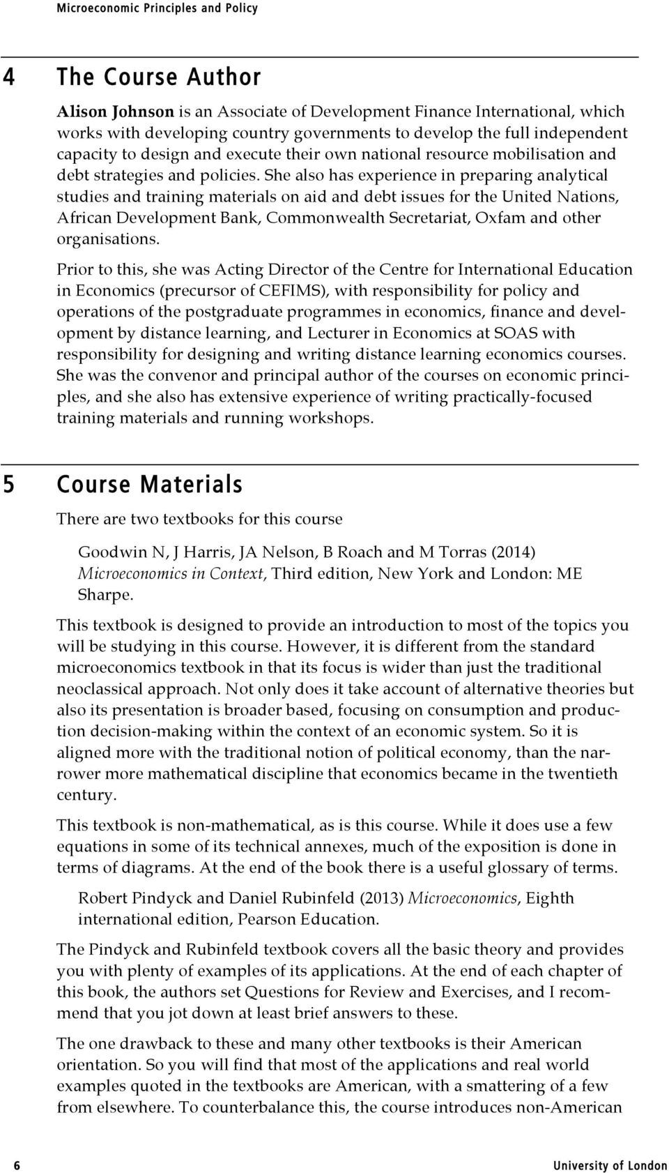 microeconomic policy examples