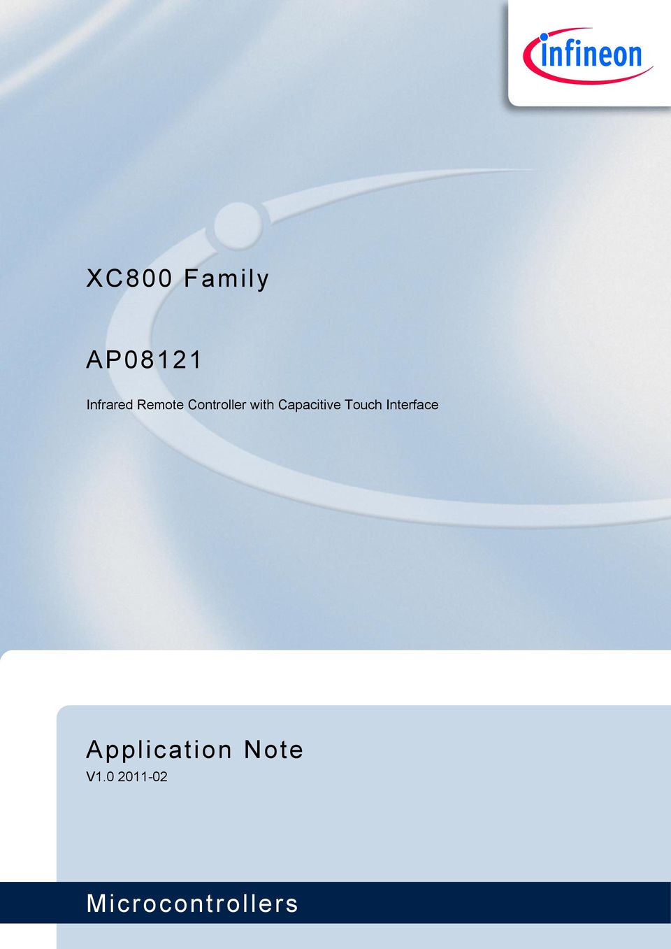 Xc800 Family Ap Application Note Microcontrollers Infrared Remote Ir Light Dimmer V1
