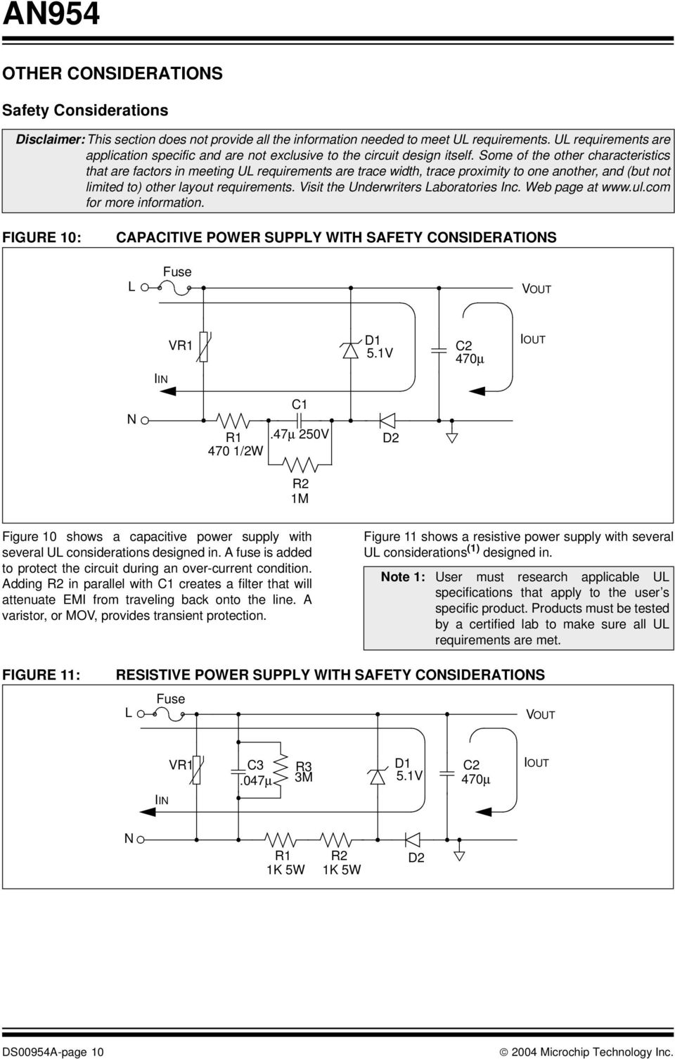 Transformerless Power Supplies Resistive And Capacitive Pdf Supply Design Part 2 Some Of The Other Characteristics That Are Factors In Meeting Ul Requirements Trace Width 11 As With