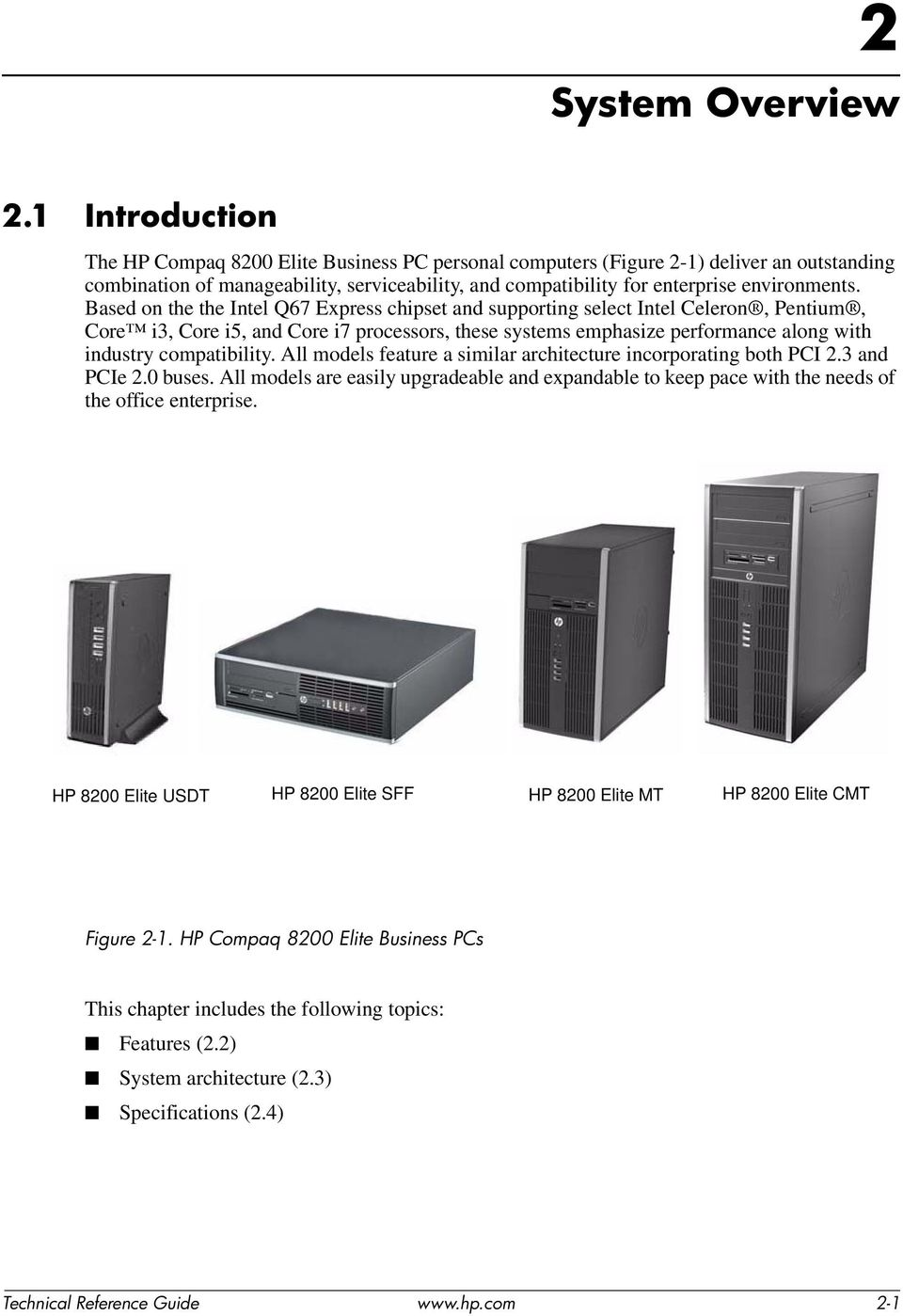 Technical Reference Guide HP Compaq 8200 Elite Series Business