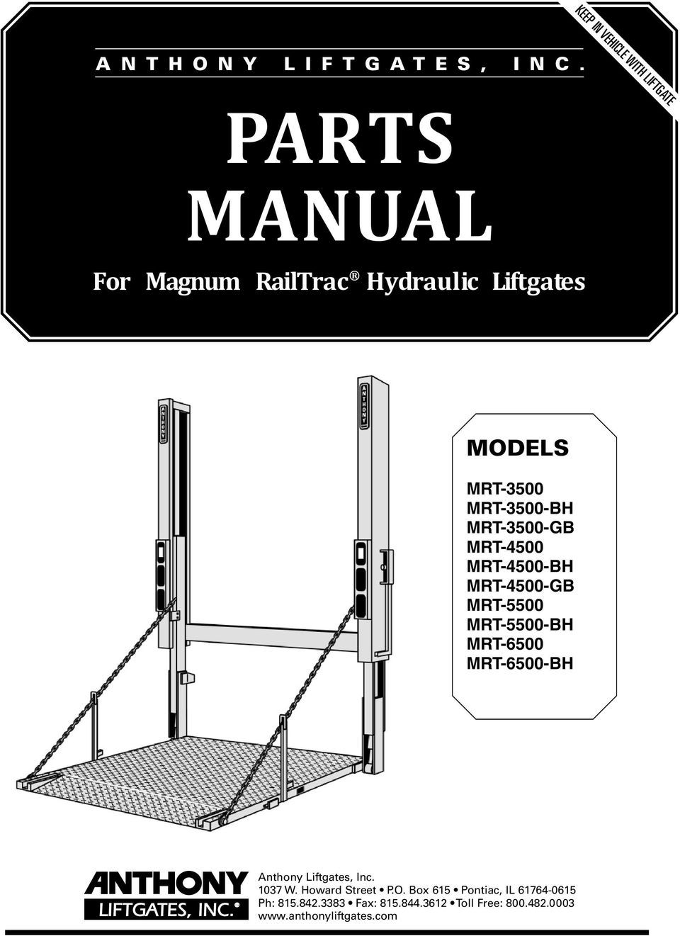 parts manual for magnum railtrac hydraulic liftgates models pdf rh docplayer net